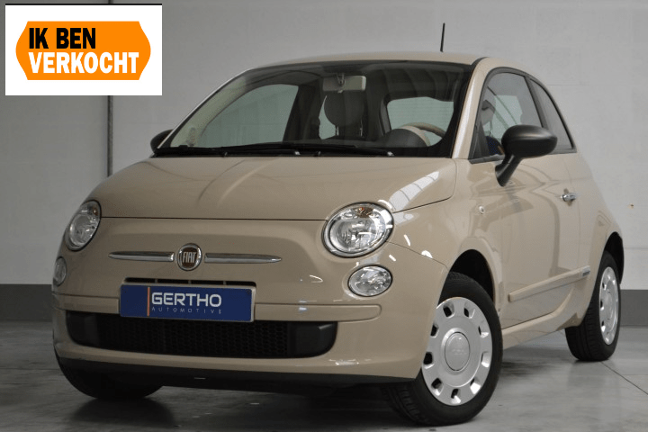 fiat 500 pop beige cappuccino gertho automotive. Black Bedroom Furniture Sets. Home Design Ideas